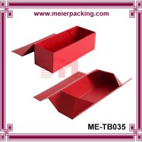 Quality Red wine glass flatten paper box, single bottle wine folding magnet box ME-FD035 for sale