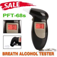 Wholesale Portable Keyring Personal Alcohol Tester , Alcohol Detector PFT68S Keychain Breathalyzer from china suppliers