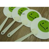 China Durable PP Hand Fan Plastic Sticks Advertising Customised Logo Printed for sale