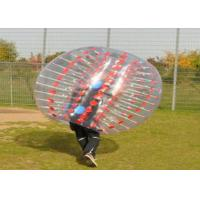 Wholesale PVC / TPU Outdoor Inflatable Toys , Inflatable Body Bubble Ball Soccer from china suppliers