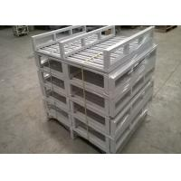 Wholesale Dark Bule Recyclable Stackable Steel Pallets With Heavy Loading Support from china suppliers