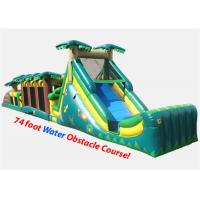 Wholesale 74 Foot Outdoor Kids Inflatable Obstacle Course For Interactive Games from china suppliers