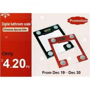 China Portable Electronic Glass Bathroom Scale XJ-3K813 on sale