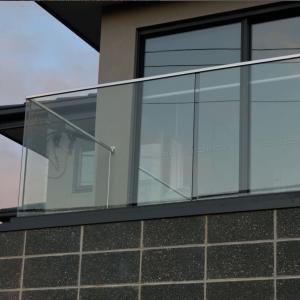 Wholesale aluminum u channel glassbalustrade, u channel glass railing from china suppliers