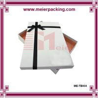 Quality White Packaging Box for Photo Album Packaging with Ribbon Bow ME-TB004 for sale
