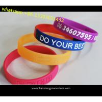 Custom embossed/imprinted/printed logo Silicone Wristband / silicone bracelet for sale