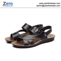 Wholesale 2014 summer new men sandals men slipper A469 men Cow Split sandals metal button from china suppliers