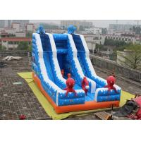 Quality Double Slide Way Commercial Inflatable Slide, Giant Inflatable Mega Slide For Adults for sale