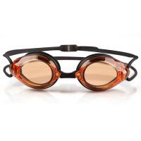 Clear Lens Optical Swimming Goggles Orange Lens Color With Quick Release Buckle