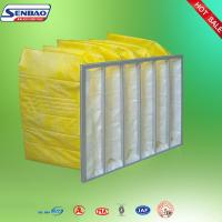 Wholesale Portable F8 Yellow Pocket Synthetic Fiber Air Filters Low Initial Resistance from china suppliers