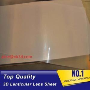 Wholesale PET thinnest offset lens 0.18mm 200 Lpi, 51x71cm 3D Film Lenticular Lens Sheet for UV offset printer annd injekt prin from china suppliers