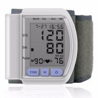 Wholesale LCD Digital Home Automatic Wrist Blood Pressure Pulse Sphygmomanometer and Tonometer Monitor from china suppliers
