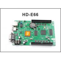 Wholesale HD-E66 controller HD-E53 P10 display module programmable LAN + USB + RS232 control card for led display screen from china suppliers