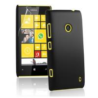 China Hard Plastic Cell Phone Cases Black , Rubber Nokia Lumia 520 Covers on sale