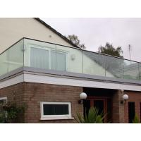 Wholesale Tempered clear glass balustrade for the deck U-channel glass railing from china suppliers