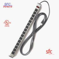 "Wholesale 24"" Horizontal Metal Multi Socket Extension Lead Grounded 16 Way With Circuit Breaker from china suppliers"