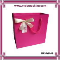 Wholesale Gift packaging bag with cotton rope handle/exclusive design paper gift bag ME-BG042 from china suppliers