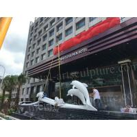 China Square Decorative Fiberglass Dolphin Statue , Modern Famous Outdoor Sculptures on sale