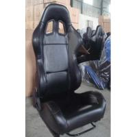 Wholesale Black PVC Leather Comfortable Racing Seats With Harness OEM / ODM Welcome from china suppliers