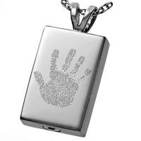 Buy cheap Costomizable Cremation URN Jewelry Ash Men Handprint For Unisex from wholesalers