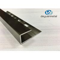 Wholesale Polishing Champagne Round Edge Aluminium Trim Strip With Logo Punched SGS from china suppliers