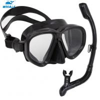 Quality Sea Commercial Diving Equipment Mask Snorkel Set Tempered Glasses for sale