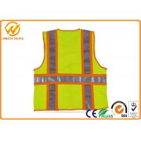Mesh High Visibility Reflective Safety Vests , Construction Worker Safety Work Vest with Pockets