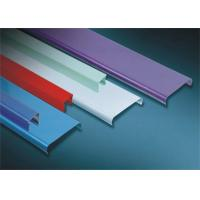 Suspended Decorative Aluminium Ceiling Strips Easy Installation For Shopping Mall for sale
