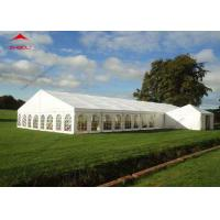 Wholesale 300 Seater Outdoor Event Tent With Transparent PVC Window / Large Garden Wedding Tent from china suppliers