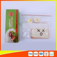 Quality Custom Resealable Plastic Sandwich Bags With Write Panel , Zip Lock Pouch Bags for sale