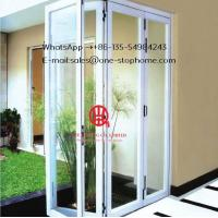 China patio doors for villa use,Exterior Room Dividers Soundproof Insulated Glass,Aluminium Double Glass Sliding Folding Door on sale