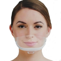 Buy cheap Food Processing 14*5.5CM Transparent Plastic Mouth Mask from wholesalers