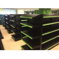 Wholesale Black Colour Supermarket Gondola Shelves Perforated Middle Back Panel 1.8M High from china suppliers