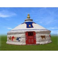 Quality 4m Diameter Mongolian Domed Tent / Yurt Camping Tent For Living Or Catering for sale