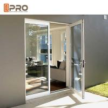 Custom Residential Aluminium Hinged Doors , Single Casement Bulletproof Glass Security Door for sale