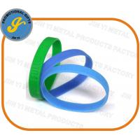 China Debossed/Embossed Silicone Wristbands for sale