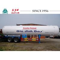 Wholesale Durable 2 Axle LPG Tank Trailer 11120*2500*4000 Dimension Cylindrical Shape from china suppliers