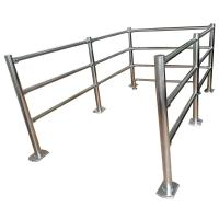 China Stainless Steel Crowd pedestrian control /Cheap metal guard rails tubular Removable Handrail on sale