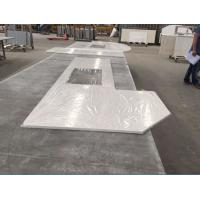 China Prefabricated Solid Quartz Stone Countertops Beveled Processed Edge on sale