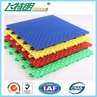 China Outdoor / Indoor Polypropylene Rubber Gym Flooring Tiles Interlocking Customized on sale