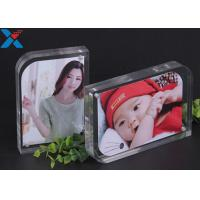 Wholesale Magnet Clear Acrylic Photo Frame Creative ARC Shape PMMA Pictures Table Frame from china suppliers