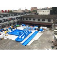 Wholesale 0.55mm PVC Tarpaulin Single Lane Inflatable Slip And Slide With Swimming Pool from china suppliers