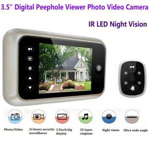 Wholesale 3.5 inch Screen Digital Door Peephole Viewer Camera 120 Degree Wide Angle Video Doorbell Phone Door Eye IR Night Vision from china suppliers