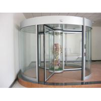 Wholesale Commercial Three wing automatic revolving door 150KG with central showcase from china suppliers
