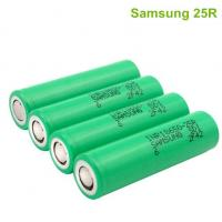 Wholesale korea Samsung  25R  original cylindrical 18650  lithium battery 20A for medical lighting from china suppliers