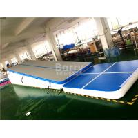 Wholesale Double Wall Fabric Blue Floating Water Inflatable Air Track Ramp For Slide from china suppliers