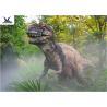Decorative Animatronic Outdoor Dinosaur / Realistic Spraying Smoke Dinosaur Models for sale