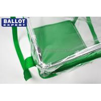 Quality Eco - friendly Self Seal Clear Plastic Ballot Box For Voting Bag Non - toxic for sale