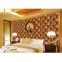 Wholesale Concise Diamond Printing Inmitation Leather Wall Coverings Moisture Resistant from china suppliers