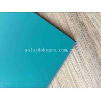 Smooth Rubber Sheet Roll with One Side PVC Surface Green Black Matt